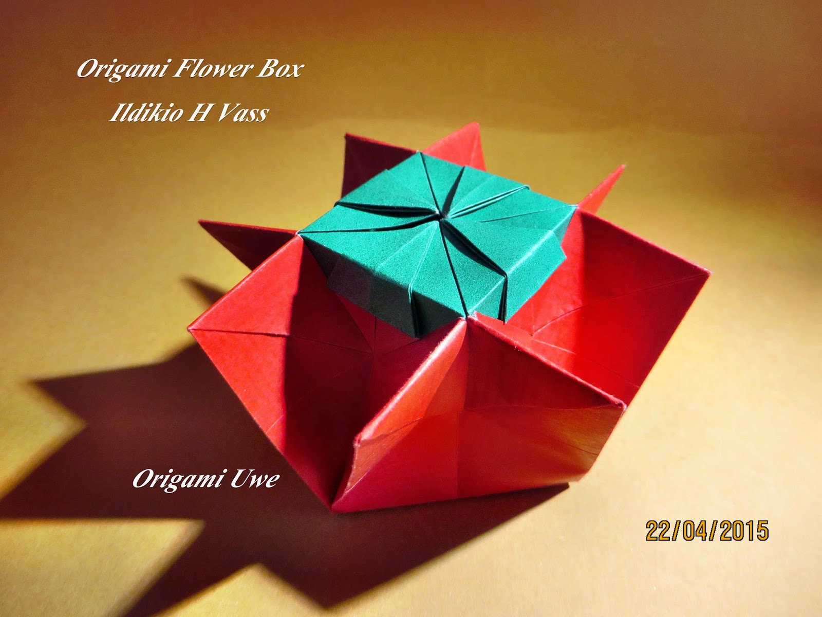 Origami, Fleurogami und Sterne: Origami Flower Box - photo#29