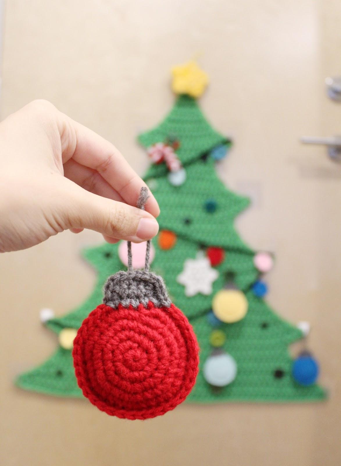 Crochet Christmas Ornaments.Flatland Christmas Bauble Ornaments Crochet Pattern Once