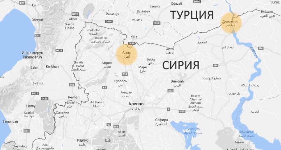 Турция нанесла девять артиллерийских ударов посеверу Сирии