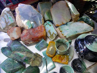 pieces of rough jadeite jade