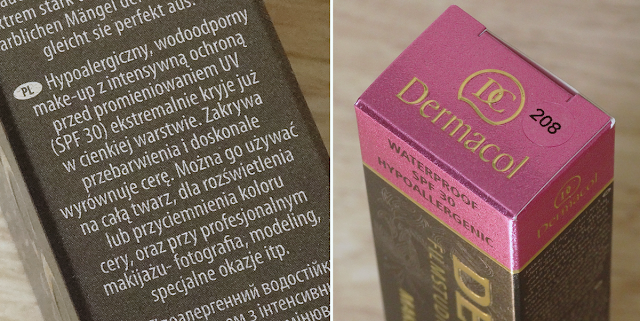 Dermacol kartonik opakowanie skład informacje