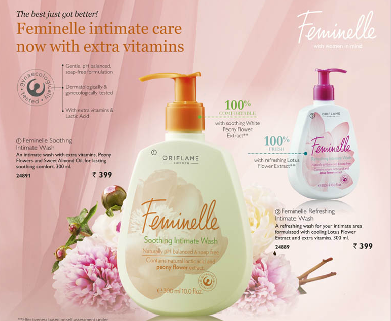 Oriflame Sweden Feminelle Intimate Wash for your Hygeine info, Review
