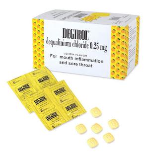 Degirol : Dequalinium Chloride Tablet Hisap, Obat Untuk Radang Mulut dan Tenggorokan
