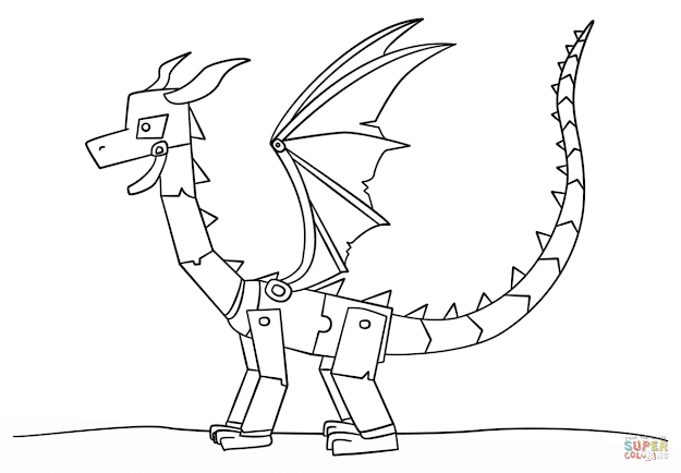 Click The Minecraft Ender Dragon Coloring Pages To View Printable Version  Or Color It Online Patible With Ipad And Android Tablets