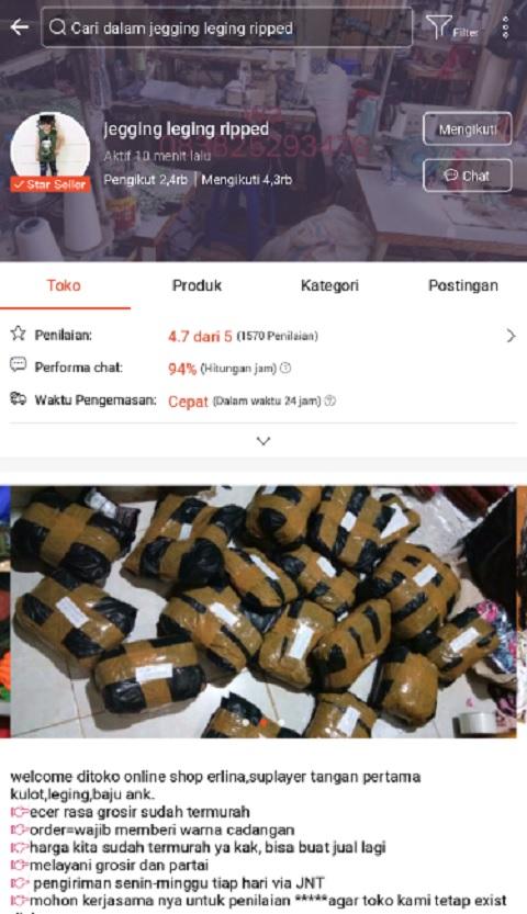 Jegging leging ripped Toko Baju Anak Terlaris di Shopee