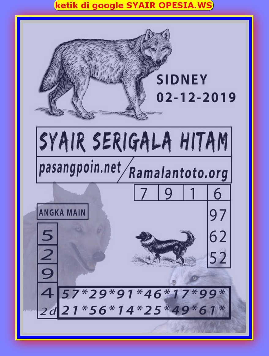 Kode syair Sydney Senin 2 Desember 2019 104