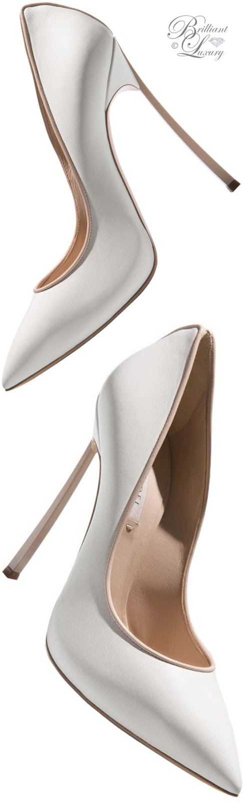 Brilliant Luxury ♦ Fall in ~ Casadei Blade high heels in white