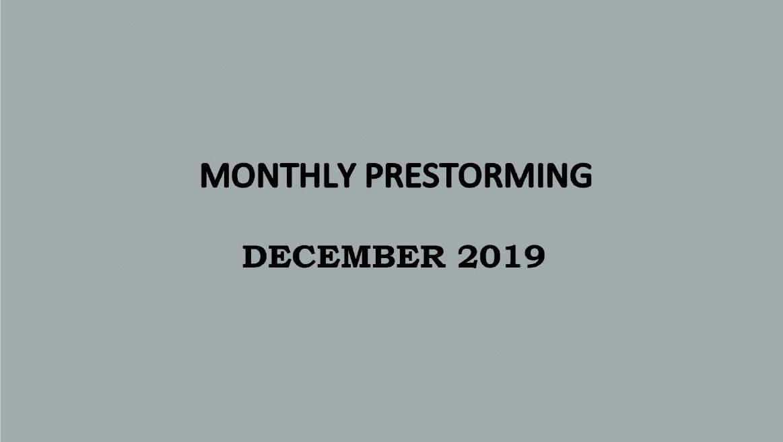 UPSC Monthly Prestorming - December 2019 for UPSC Prelims 2019