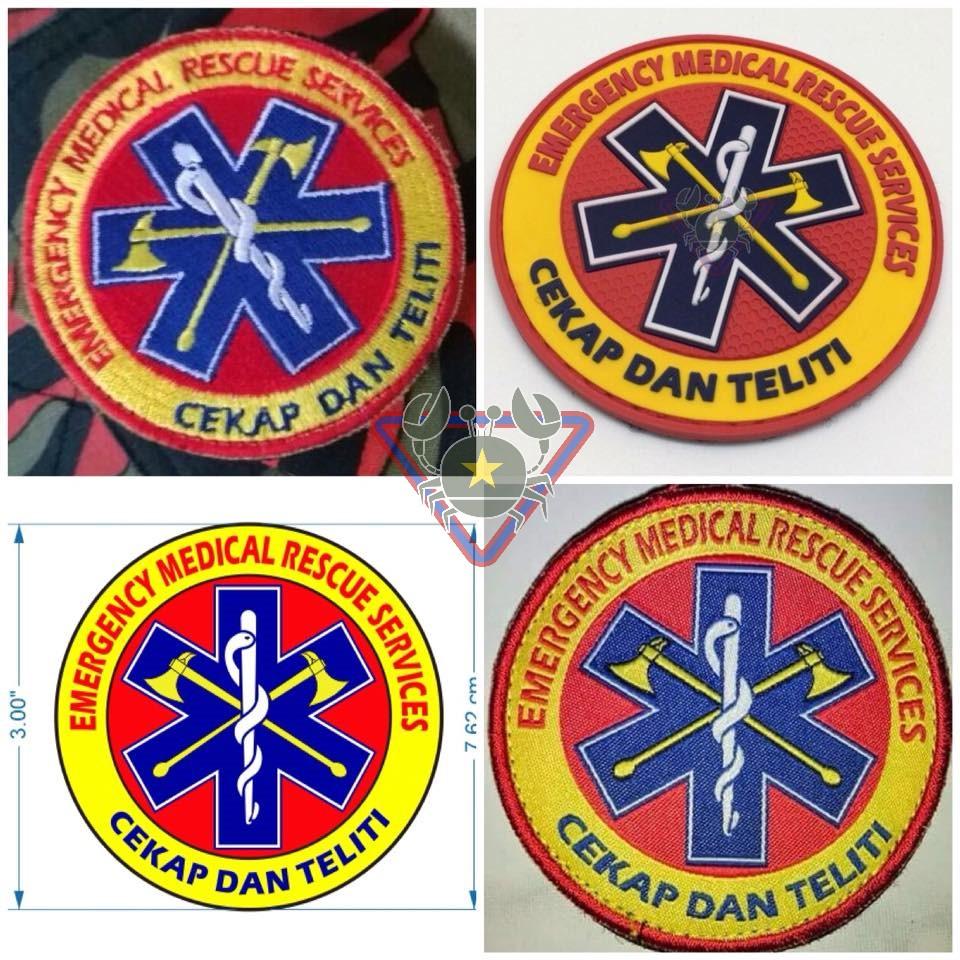 Kedailoreng Patch Pvc Custom 1 Jabatan Bomba Dan Penyelamat
