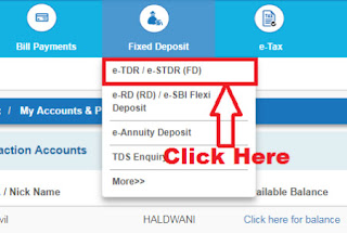 how to apply fixed deposit in sbi online