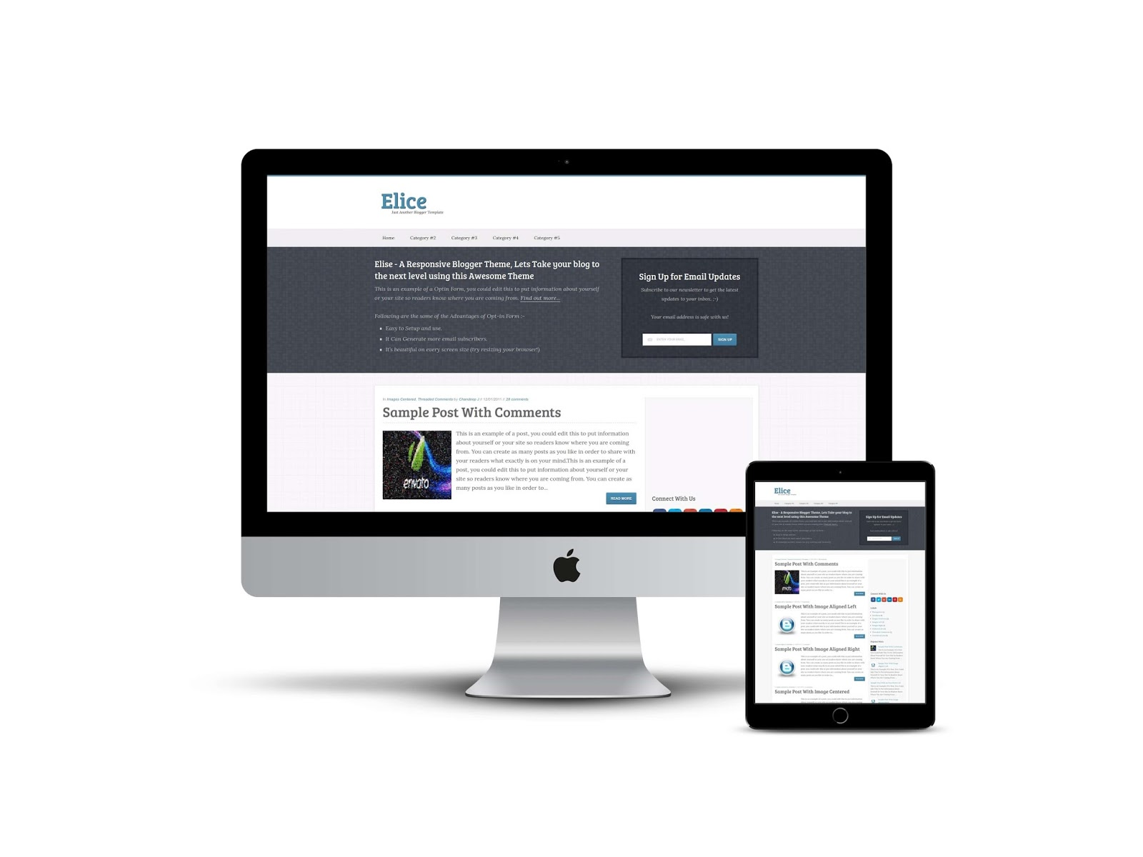 Elice - A Responsive Blogger Template Free Download - Shouters Planet