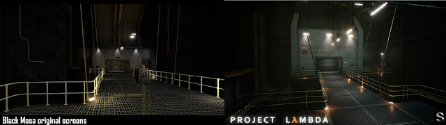 Half-Life - Project Lambda - Black Mesa - Introduction Barney comparison