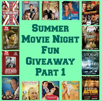 Enter the Summer Movie Night Fun Giveaway Part 1. Ends 8/9.