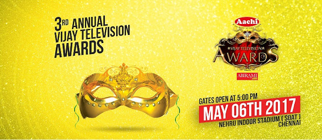 3rd Vijay Television Awards 2017 Winners list