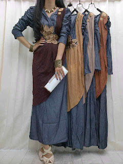 Maxi Denim Selendang fit to L