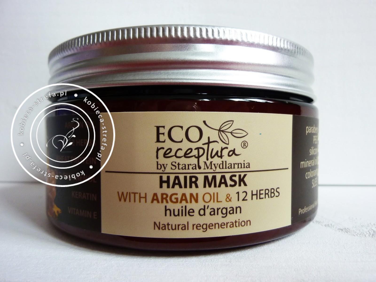 Maska do włosów ECO RECEPTURA by Stara Mydlarnia - z olejem arganowym & mieszanką 12 ziół