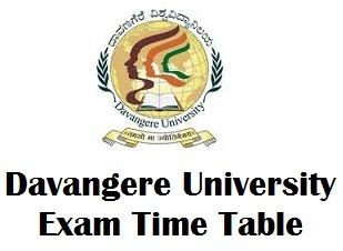 Davangere University Exam Date 2017