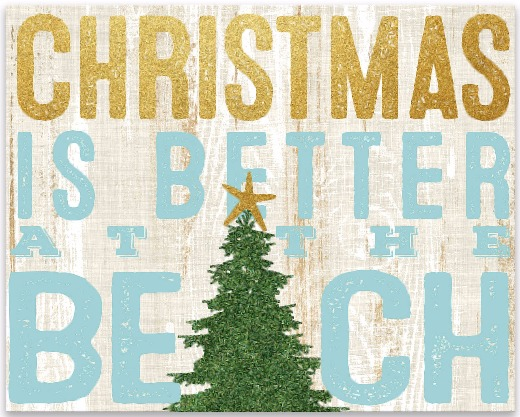 Christmas is Better at the Beach Canvas Art