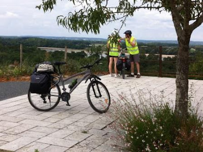 Cyclists taking in the view over the Loire Valley