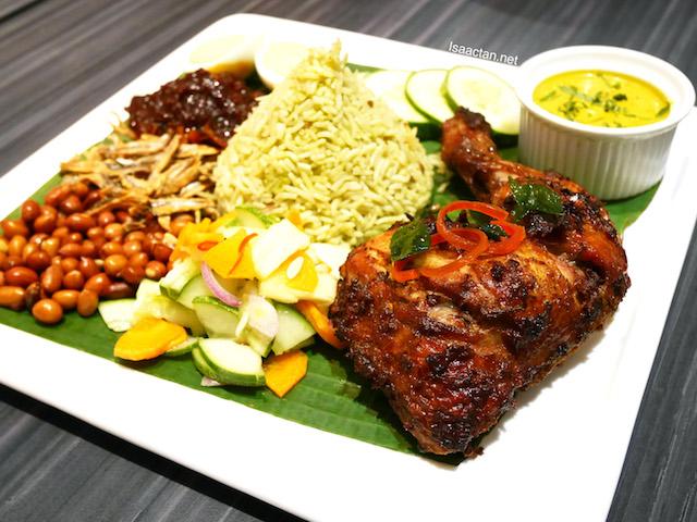 Nasi Pandan with Ayam Berempah - RM21.90