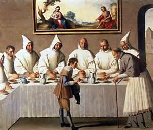 San Hugo en el refectorio de los Cartujos, de Francisco de Zurbarán
