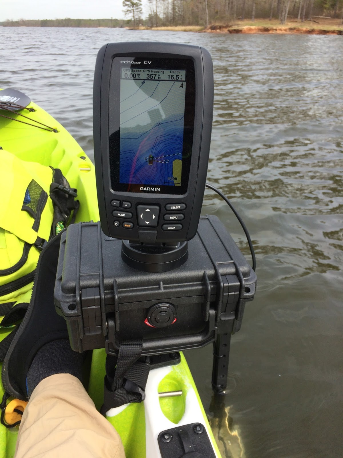Fish finder installation for Fish finders for kayaks