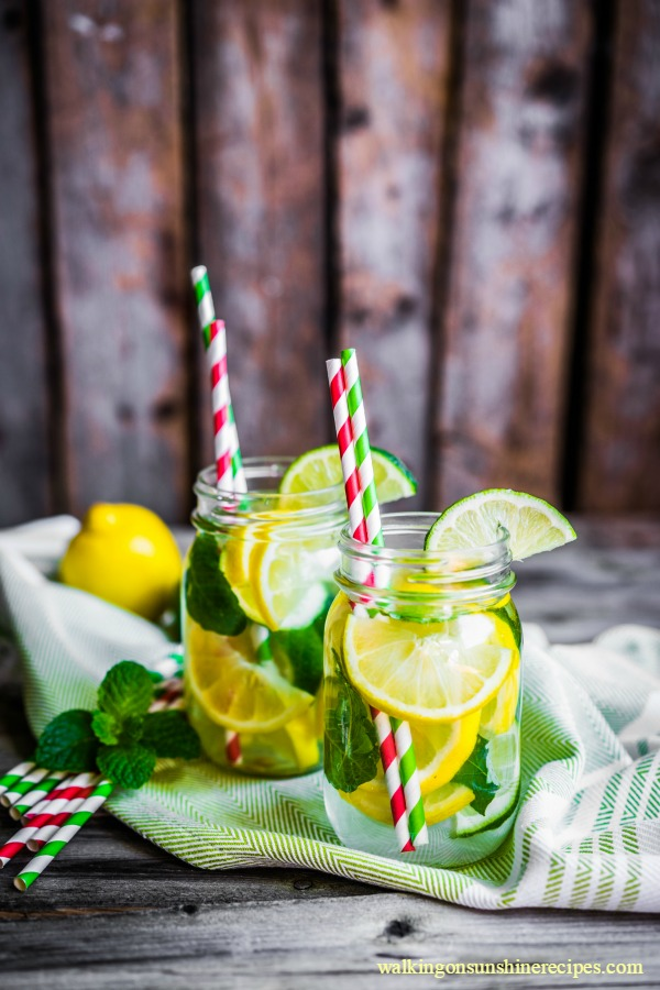 Lemonade with Mint Leaves from Walking on Sunshine Recipes