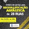 Prefeitura dará ordem de serviço para requalificação asfáltica do Centro da cidade nesta terça (21)