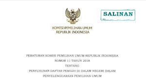 Download PKPU RI Nomor 11 Tahun 2018