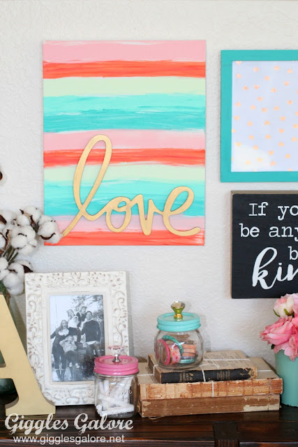 hand painted word art canvas diy