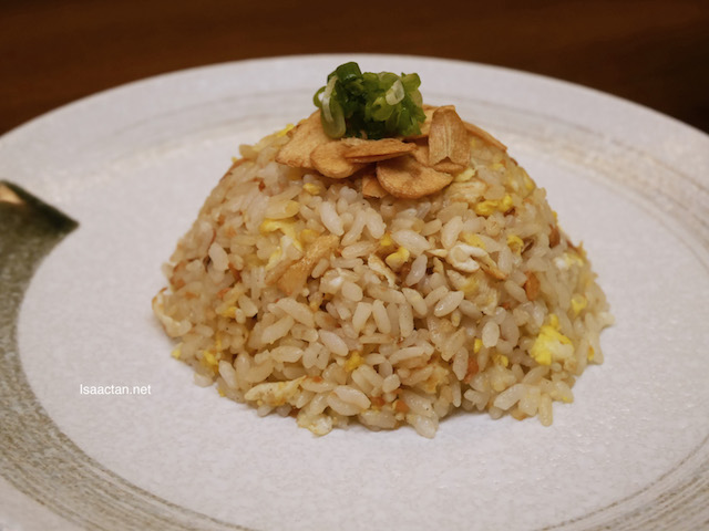 Simple, yet delicious, Garlic Fried Rice (RM9)