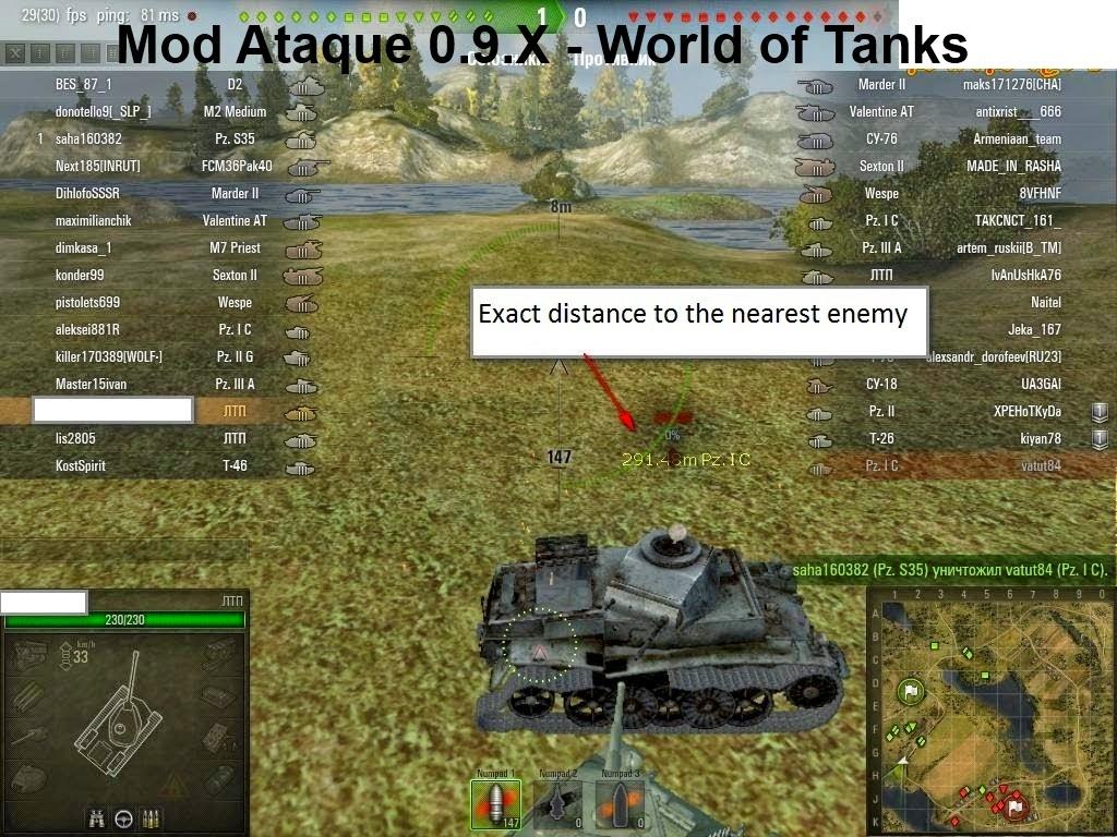 mod para la manchas en los tanques wot