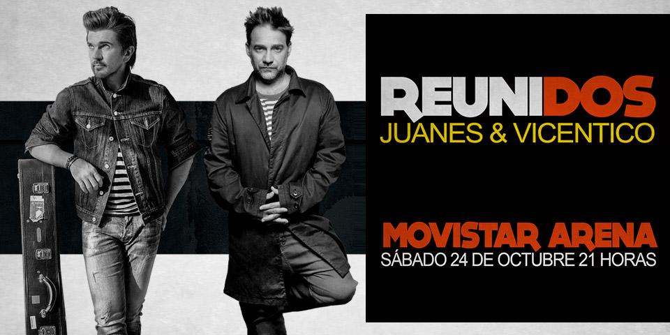 Juanes y Vicentico en Chile