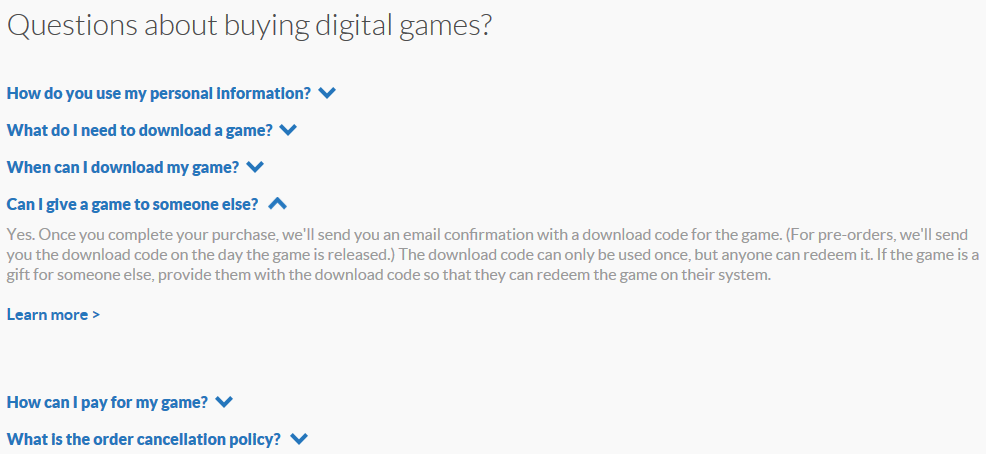 Nintendo advocates gifting eShop download codes