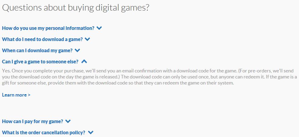 Nintendo advocates gifting eShop download codes