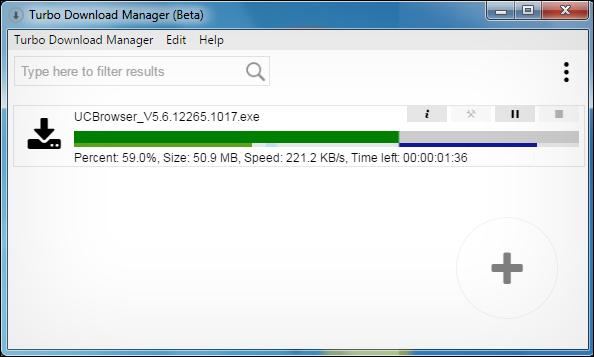 تحميل برنامج تحميل من الانترنت مجانا Turbo Download Manager