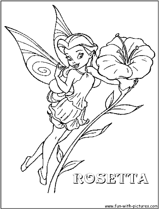 Disney Fairy Rosetta Coloring Pages | Best Coloring Pages