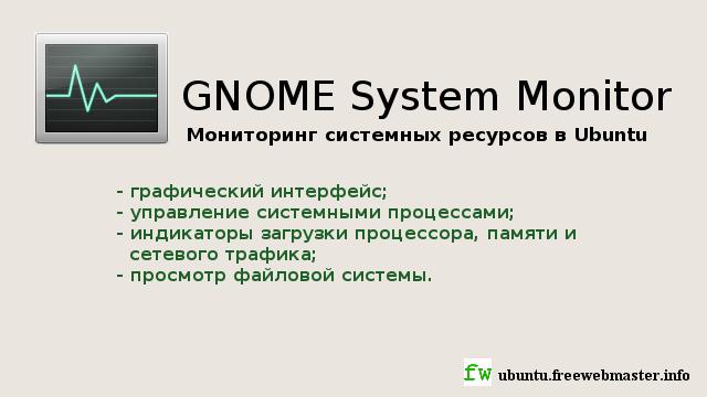 Мониторинг системных ресурсов в Ubuntu