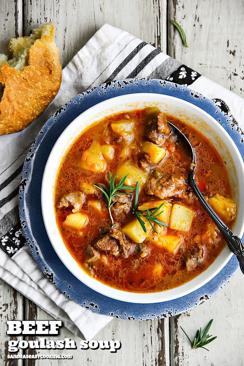 Beef Goulash (soup) #recipe --- for more recipes and meal ideas, visit Sandra's Easy Cooking