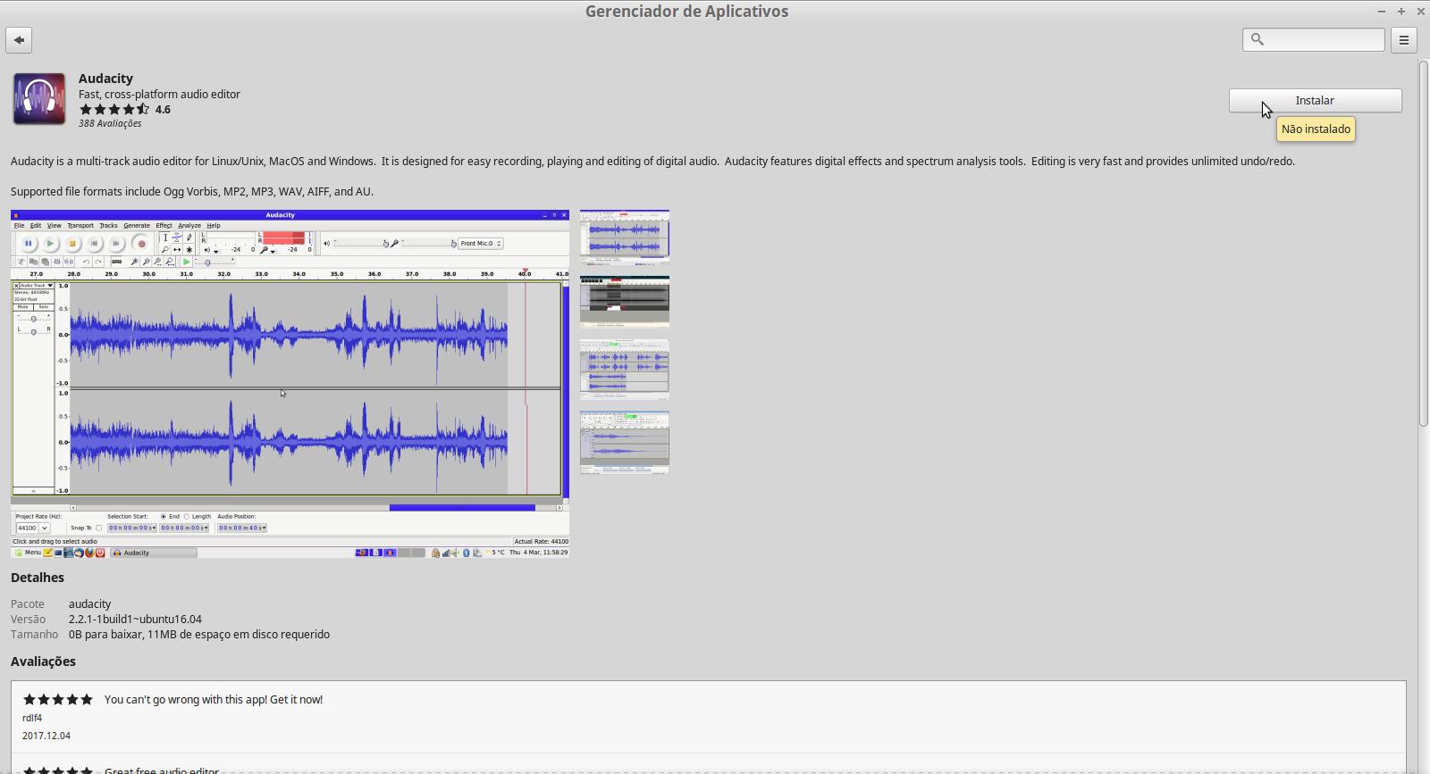 Audacity um aplicativo para editar e gravar áudio -