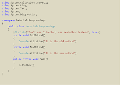example obselete attribute c#