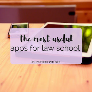 my favorite law school apps. the best apps for law school. iPhone apps for law school. iPad apps for law school. apps to download for law school | brazenandbrunette.com