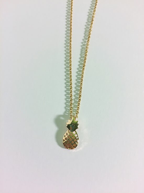 claire's Pineapple necklace