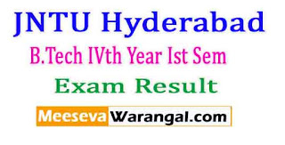 JNTU Hyderabad B.Tech IVth Year Ist Sem (R07,R09,R13) Reg / Sup Nov 2016 Exam Results