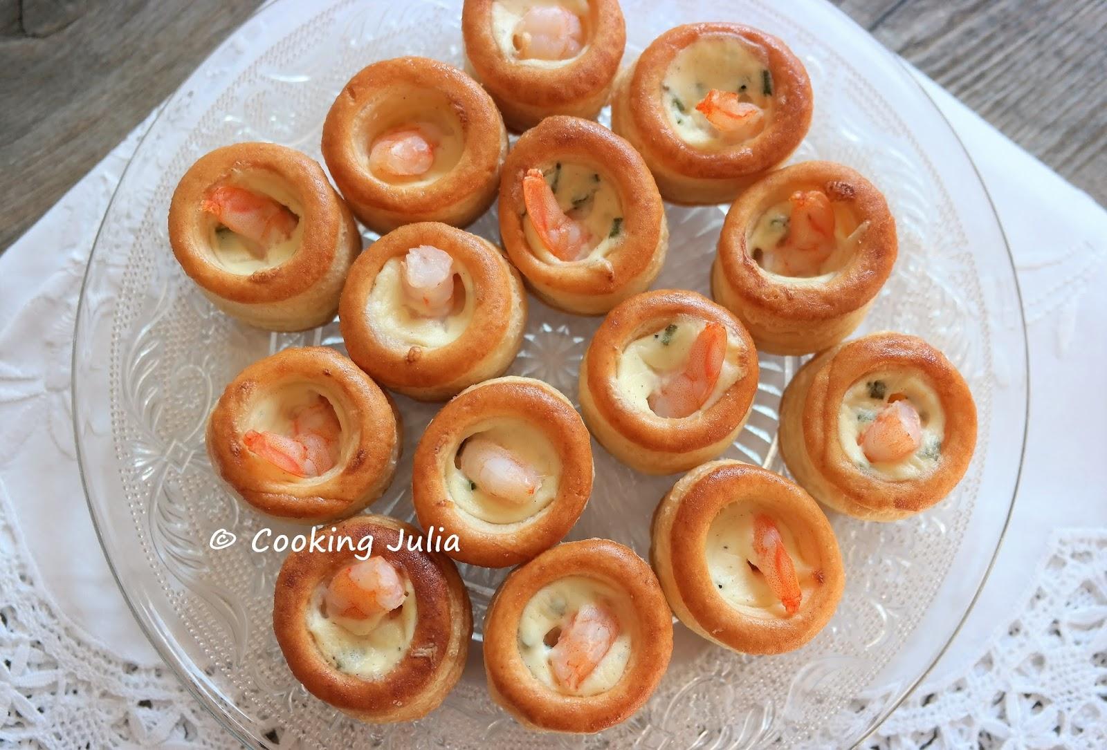 Cooking Julia Mini Bouchees Aux Crevettes