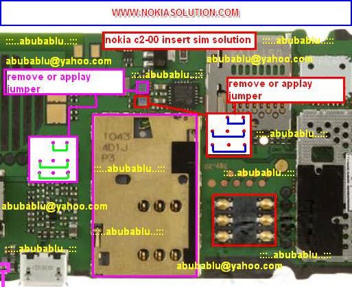 how to insert sim2 in nokia c2-03