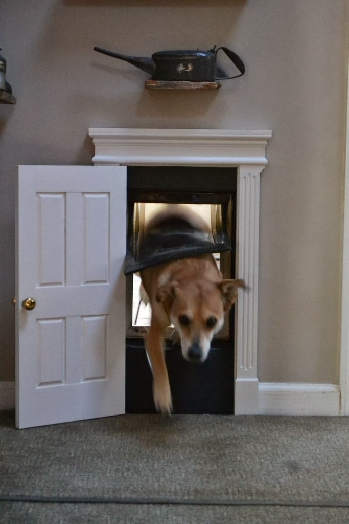 http://www.instructables.com/id/High-Class-Dog-Door/