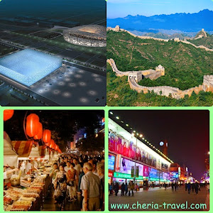 Olympic Stadiums – Bird Nest and Water Cube, Great Wall Of China, Wang Fu Jing Shopping Street