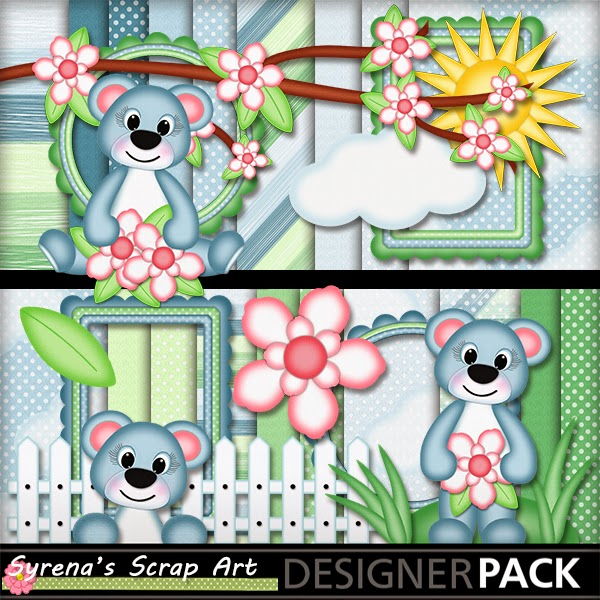 Summer Bears Digital Scrapbook Kit