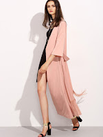 www.shein.com/Pink-Three-Quarter-Sleeve-Long-Outerwear-with-Belt-p-302266-cat-1735.html?aff_id=2046